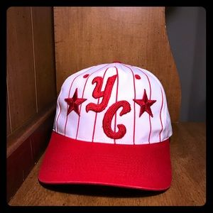 YC All Star SnapBack Hat White/Red